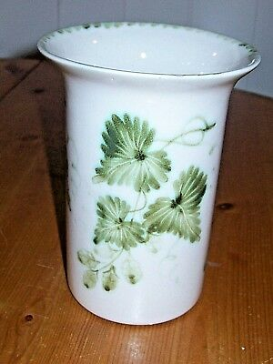 Vintage Rye Pottery Vase in 'HOPS' Pattern,Cylindrical with Flared rim,England