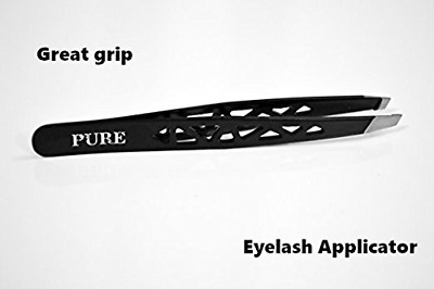 PURE Black Tweezer, BEAUTY Hollow Holes, for Eyebrows, Men and Women, Tweezer No