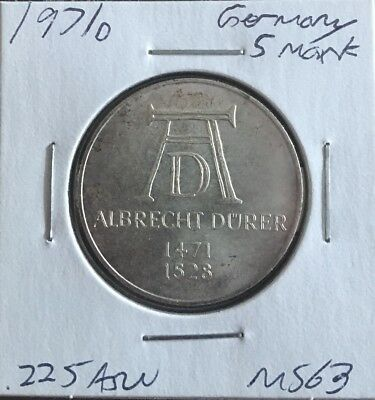 1971 D Germany Silver 5 Mark