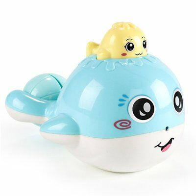 Cartoon Kids Floating Whale Spraying Water Baby Bath Shower Toys for Children 8M