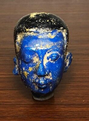 RARE Ancient Egyptian glazed stone priest head, armana period (1353-1336 bc)