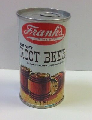 Franks Root Beer Steel Soda  Can - Pictures Kegs