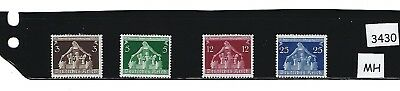 MH Stamp set / 1936 Congress of Municipalities/ Nazi  Germany / Third Reich / MH