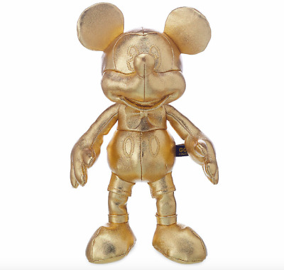 Disney Mickey Mouse 90TH Anniversary Gold Collection Small Plush October