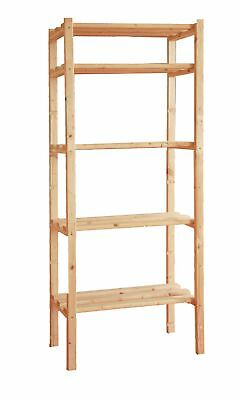 Shelf in wood 170x80x30 5 shelves home furniture