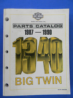 Harley Davidson 1987-1990 1340 Big Twin PARTS CATALOG  99450-90A