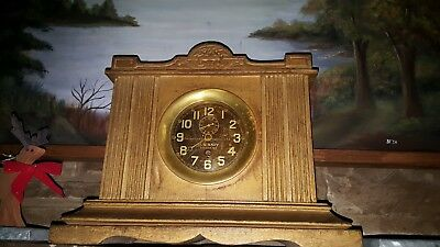 Antique Chelsea Clock Co. Brass Ships Bell Clock Circa 1912-1919 Runs and Chimes