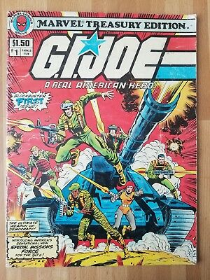 Original Large Size Marvel Comics Treasury Edition GI Joe Comic Book #1  1982 d.