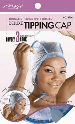Magic Hair Highlighting Tinting Tipping Cap With Needle, Frosting & Tipping Cap
