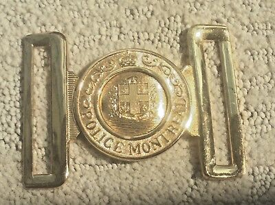 Collectible Canada Montreal Police Buckle William Sully Manufactured
