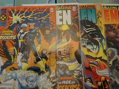 X-Men Age of Apocalypse The Amazing X-Men limited series comics: issues 1-4