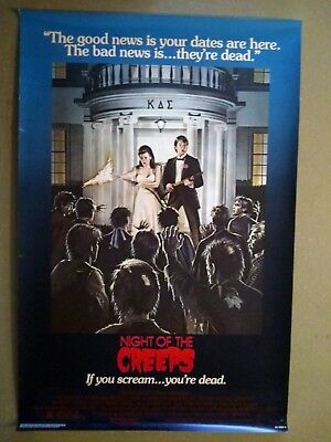 Night of the Creeps vintage original 1-Sheet Poster U.S. 1986 Rolled
