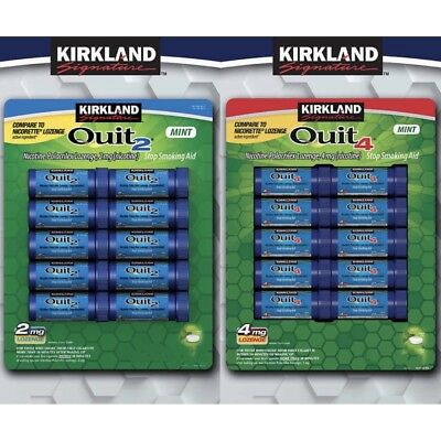 Kirkland Signature Quit Lozenges Mint 2 or 4mg Stop Smoking Aid (54 or 216 Pc)