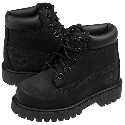 Timberland 6 Inch Premium Baby Toddlers Boots Black 12807 Baby Shoes