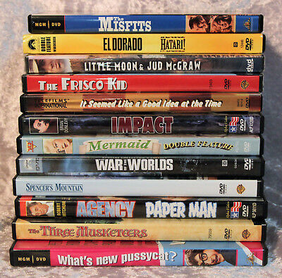 Lot of 12 DVD's (15 Classic Movies) as Shown in Photo