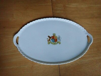 Gemma Crested china Tray British Monarch Crest