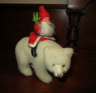 1940 German Santa Claus riding a Polar Bear