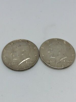 $1 Face Value 90% Silver U.S. Coin Lot - Two Half Dollars Junk Silver (0234)