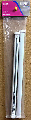 """Allison By Amerock 2 Pack Oval Spring Tension Rod White 11"""" - 16"""" 1910093"""