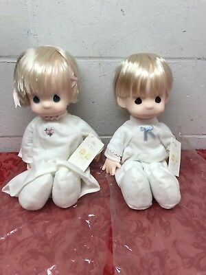 "Precious Moments ""The Jesus Loves Me"" Dolls, In Box Girl Doll And Boy Doll"