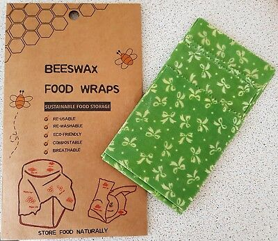BEESWAX FOOD WRAPS Reusable Wraps ECO Organic Sustainable Storage 3 pack S,M,L
