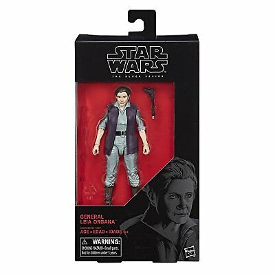 "Star Wars: The Last Jedi Black Series 6"" General Leia Organa Action Figure"