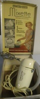 Vintage Hamilton Beach Mixette 3 Speed Electric Hand Mixer