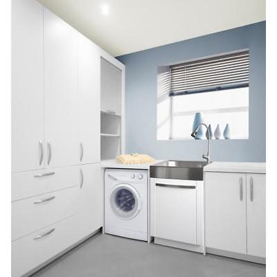 All In One Stainless Steel Laundry Utility Sink And Cabinet Modern