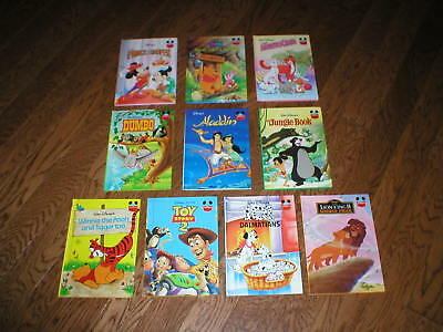10 Disney's Wonderful World of Reading Vintage Classics HC Glossy-Excellent!