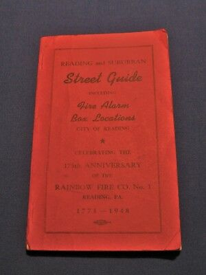 175th Anniv Street Guide Fire Alarm Box Locations Rainbow Fire Co #1 Reading PA