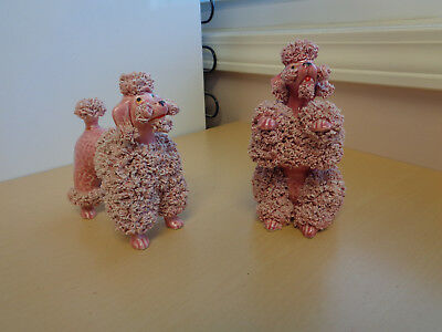 Awesome Pink Vintage Mid Century Spaghetti Hair Poodles