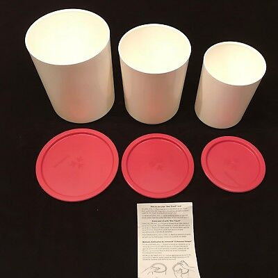 Tupperware One Touch Pink Canister Set 6 Piece NEW