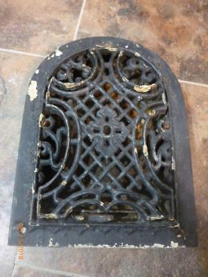 Antique Cast Iron Tombstone Heating Grate Vent