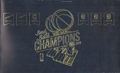 Golden State Warriors 2018-2019 NBA Official Ticket Stub All Games New Mint
