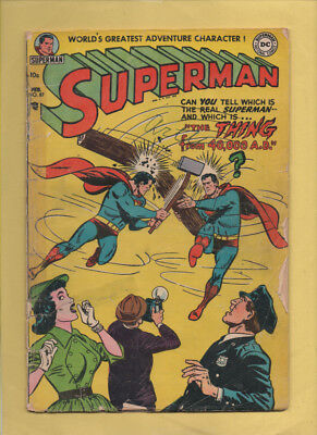 Superman #87, #196 Dual Covers! Feb 1954, May 1976 DC, 1939 Series