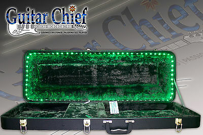 Musician's Gear Deluxe Electric Guitar Case With LED Lights, IR Remote Control