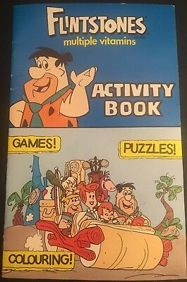 Vintage 1993 THE FLINTSTONES Multiple Vitamins Activity Book Unused RARE Colour