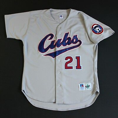 Authentic Sammy Sosa 48 Jersey Chicago Cubs Russell Athletic 1994-1996