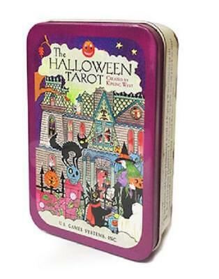 Halloween Tarot in Collectible Tin NEW Sealed 78 cards Bats