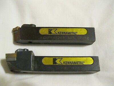 Two Kennametal lathe tool holder