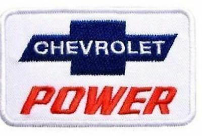 CHEVY POWER EMBROIDERED IRON ON PATCH vintage muscle car drag racing suit