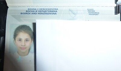 Vintage Passport Bosnia Bih Extremely Cute Young Teen Girl 9 Y.o Many Stamps