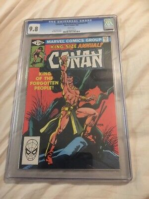 Conan The Barbarian Annual 6 CGC 9.8 Gil Kane  Cover Awesome Rare !!!