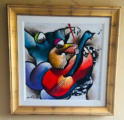David Schluss, Dance to the Music, Original Mix Media Painting On Canvas