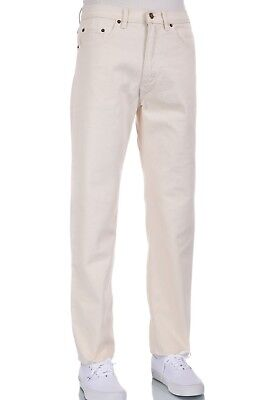 NWT Men Eagle Blue Classic Straight Leg Fit Colored Off White Jeans W 30 x L 30