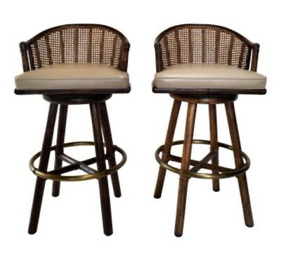 Mcguire Furniture Of San Francisco, Vintage Bamboo And Rattan Bar Stools