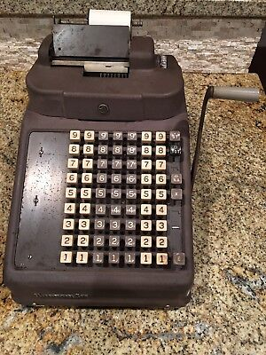 Vintage Burroughs 8 Column Adding Machine Mechanical Industrial Calculator