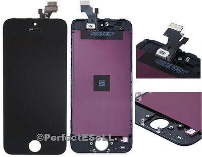 Replacement LCD Front Screen Glass Lens Digitizer Touch Panel For iPhone 5 Black