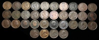 British India. Lot of 1/4 Anna from 1862-1936, Victoria, Edward VII, George V