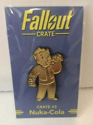 NEW Loot Crate Fallout Nuka-Cola Party Boy Pin